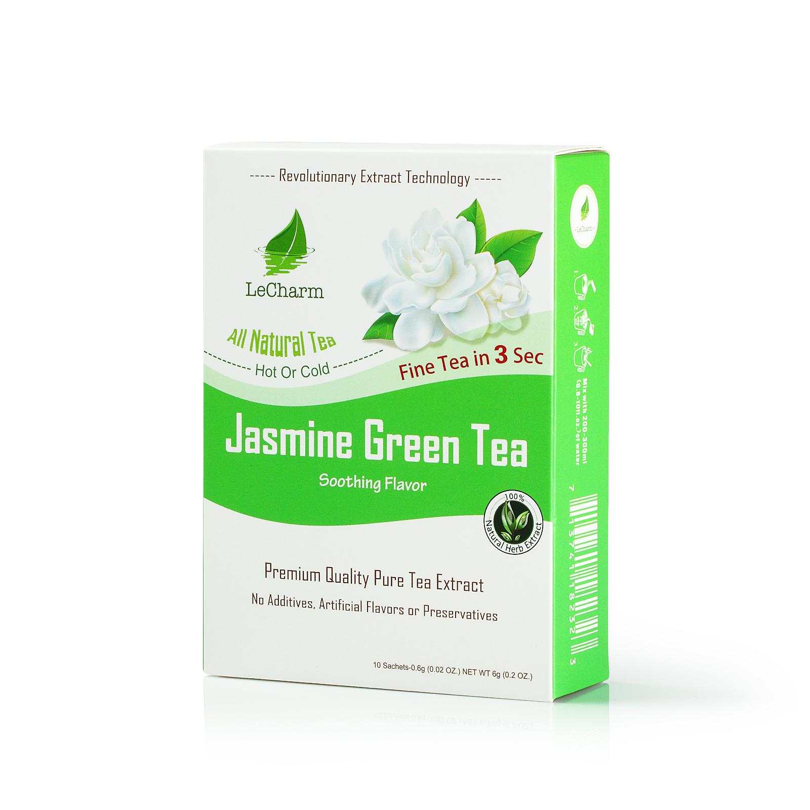 Jasmine green tea extract lecharm tea jasmine organic green tea extract 10 sachets izmirmasajfo